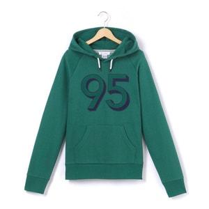 Sweater met kap en ''95'' print R essentiel