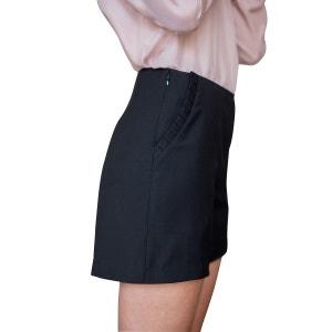 Short en laine simple et élégant classic chic poches latérales style classique SUNDAY LIFE