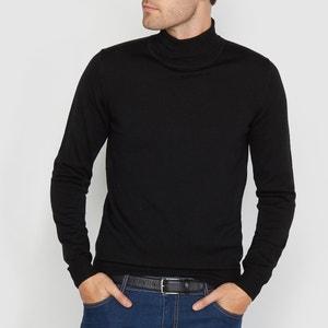 Пуловер с отворачивающимся воротником из шерсти мериноса La Redoute Collections