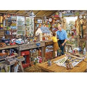 Puzzle 1000 pièces - L'atelier de grand-père GIBSONS