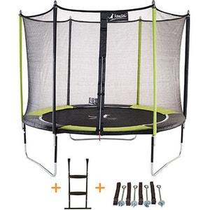 Trampoline de jardin 305 cm + filet de sécurité + échelle + kit d'ancrage JUMPI POP 300 KANGUI