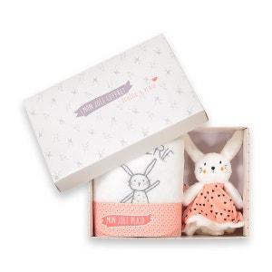 Coffret doudou lapin et plaid La Redoute Collections