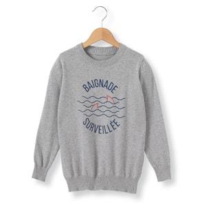 Baignade Surveillée Motif Jumper/Sweater, 3-12 Years La Redoute Collections