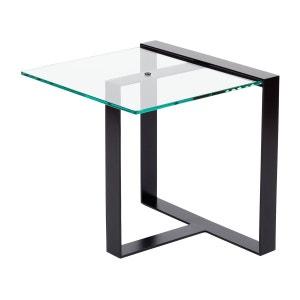 Table basse courte acier et verre Séverin ALEX DE ROUVRAY DESIGN