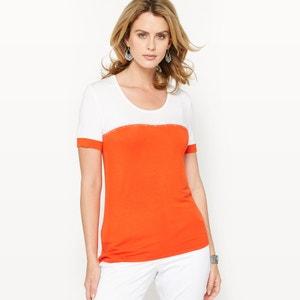 T-shirt bicolore, maille souple ANNE WEYBURN