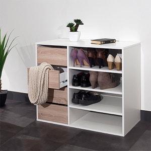 Rangement chaussures 4 niches, 4 tiroirs, Reynal La Redoute Interieurs