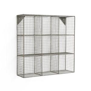 Estantería de pared, 9 compartimentos, de rejilla de metal La Redoute Interieurs
