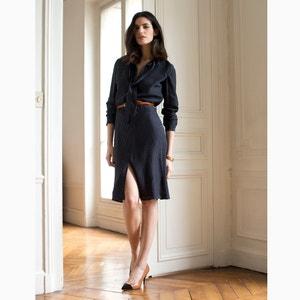 Suknia w grochy z jedwabiu LAURA CLEMENT