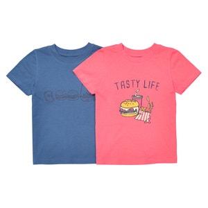 Lote de 2 camisetas estampadas, 3-12 años La Redoute Collections