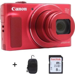 Appareil photo compact CANON Pack SX620 HS Rouge + House + SD 8Go CANON
