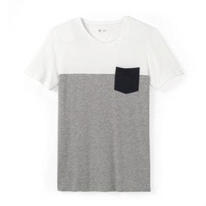 Trójkolorowy T-shirt z okrągłym dekoltem 100% bawełny R édition