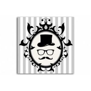 Tableau Baroque Gentleman Profil encadré 50X50 cm DECLIKDECO