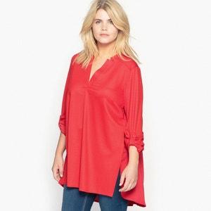 Pleated Dual Fabric T-Shirt CASTALUNA