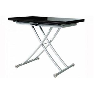 Table Basse Relevable à Rallonge Noir Laqué Ella DECLIKDECO