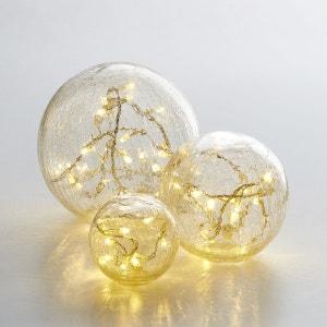 Boules en verre craquelé Eudia, lot de 3 La Redoute Interieurs