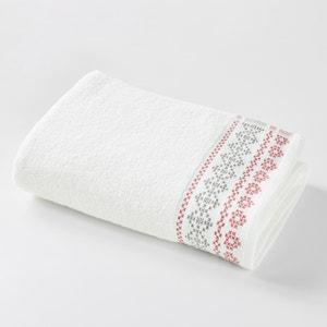Toalla de baño maxi CHALET, con cenefa  jacquard de motivo tradicional. La Redoute Interieurs
