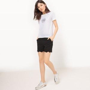 Camiseta de algodón, cuello redondo,espalda fantasía MADEMOISELLE R