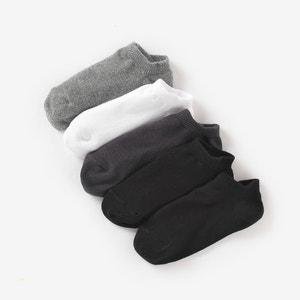 Комплект из 5 пар однотонных носков La Redoute Collections