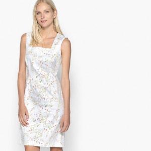 Bedrukte rechte jurk zonder mouwen ANNE WEYBURN