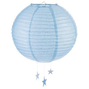 Lanterne Boule - Diam. 35 cm. - Bleu ATMOSPHERA