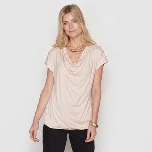 T-shirt, malha fluida e renda ANNE WEYBURN