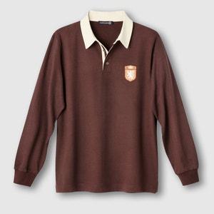 Polo-rugby de mangas compridas, jersey puro algodão CASTALUNA FOR MEN
