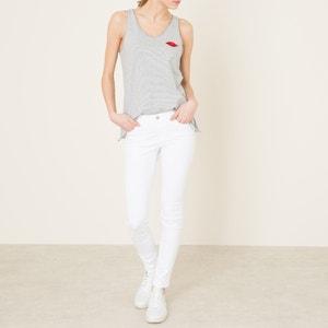 "White Mid Rise Skinny Jeans, Length 32"" MAISON SCOTCH"