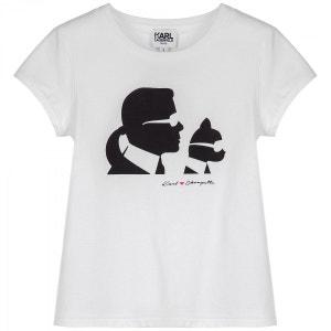 T-shirt Mini Me manches courtes blanc KARL LAGERFELD