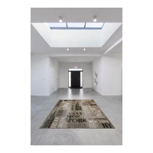Tapis design extérieur et intérieur graphite plat USA Calvin ALLOTAPIS