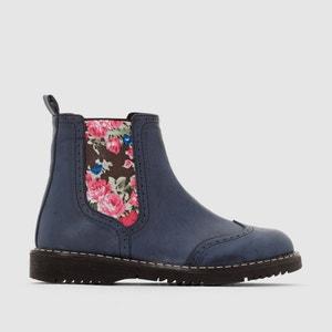 Boots met elastiek en bloemenprint abcd'R