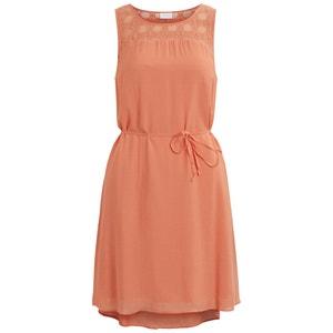 Kleid, ärmellos, Schulterpartie mit Ajourspitze VILA