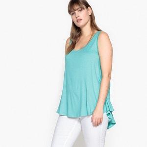 T-shirt con scollo rotondo tinta unita, senza maniche CASTALUNA