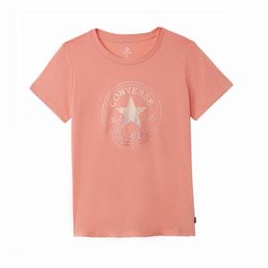 Koszulka z czystej bawełny CLEAR FOIL CHUCK PATCH CREW TEE CONVERSE