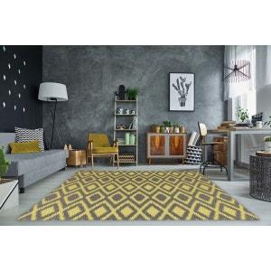 Tapis moderne intérieur et extérieur effet sisal gris et jaune Gazania ALLOTAPIS