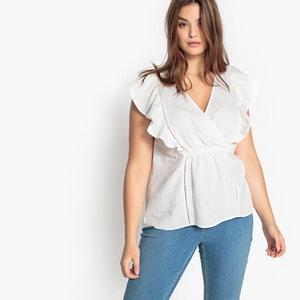 Plain Short-Sleeved Round Neck Blouse CASTALUNA