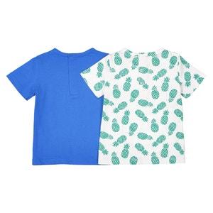 Camiseta con cuello redondo, Oeko-Tex, 1 mes - 2 años (lote de 2) La Redoute Collections
