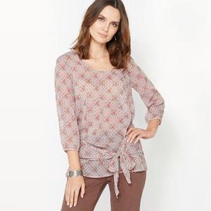 Bedrukte blouse, gekreukte crêpe ANNE WEYBURN
