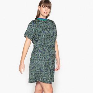 Kleid mit grafischem Print und gerader Schnittform CASTALUNA