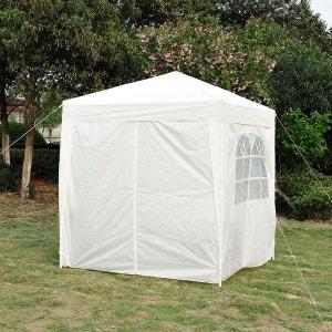 Tonnelle barnum tente de réception pliante 2 x 2 x 2,55 m blanc avec fenêtres + sac de transport - OUTSUNNY OUTSUNNY