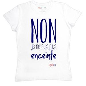 T-shirt femme en coton NON Je ne suis plus enceinte RIGOLOBO