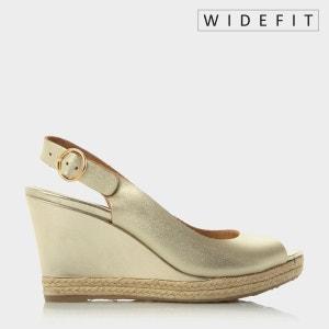 KLICK PIEDS LARGES - Sandales compensées pieds larges à bordure effet espadrille DUNE LONDON