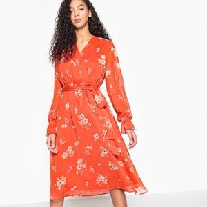 Floral Print Wrapover Dress MADEMOISELLE R