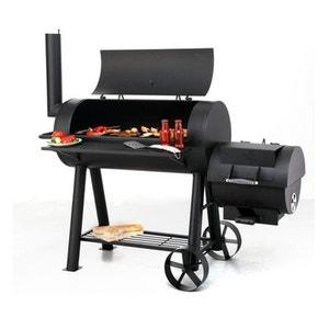 OUTDOOR - Grand barbecue XXL familial tonneau américain - Avec fumoir - Très solide 75Kg ! NONAME