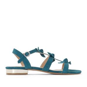 Leren sandalen met strik La Redoute Collections