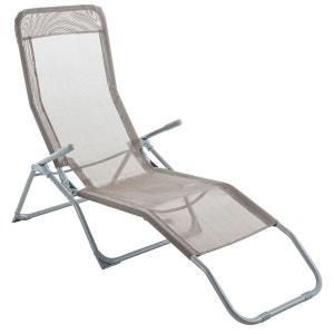 Transat / Chaise longue Siesta - Taupe COTE DETENTE
