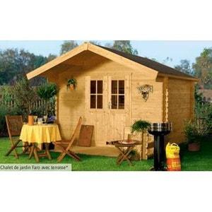 Abri de jardin garage en solde la redoute for Chalet de jardin en solde