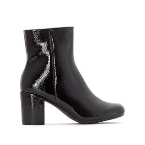 Gelakte boots met vierkante hak MADEMOISELLE R