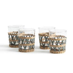 4er-Set Gläser Qualimna mit geflochtener Verzierung
