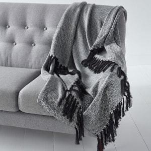 Plaid in jacquard tricot met etnische motiefjes, Ismir La Redoute Interieurs