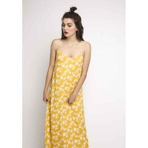 Długa sukienka na cienkich ramiączkach w kwiatowy wzór COMPANIA FANTASTICA